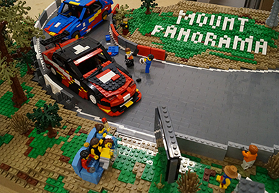LEGO Mount Panorama - Wahluu Pit Straight Model in the workshop 2016. Photo: The Brickman