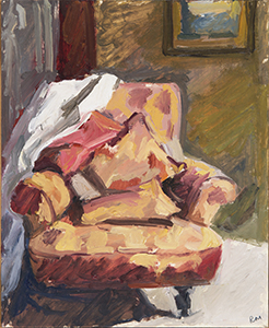 Rachel Milne Evening Chair 2016, oil on board. 23 x 28cm. Image courtest of the artist and King Street Gallery, Sydney.